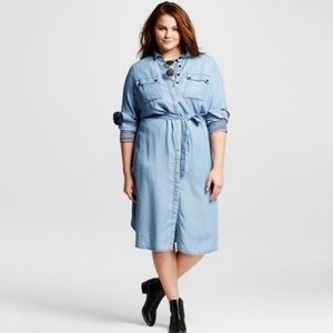 WHO WHAT WEAR | chambray dress